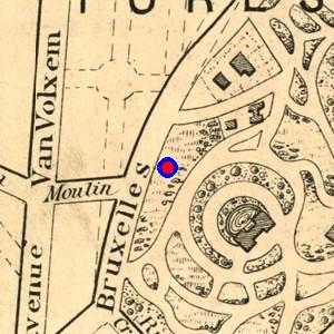 Localisation de 39 chauss e de bruxelles 39 sur 7 plans de - Garage chaussee de bruxelles dampremy ...